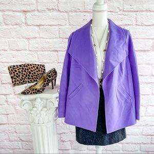 Talbots Lavender Wool Sweater Blazer - XP